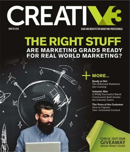 CreatiV3 Winter 2016 Cover - Ideas & Insights For Marketing Professionals