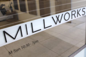 Millworks Custom Business Logo Window Decal - Large Format Printing